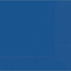 Serviettes cocktail 25 * 25 cm 3 pli bleu royal50220-105 AMSCAN BLEU FONCE
