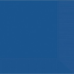 Serviettes bleu royal 33*33 3pli