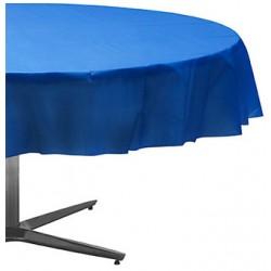 Nappe plastique ronde 213 cm bleu royal