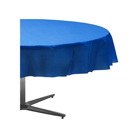 Nappe plastique ronde 213 cm bleu royal - Nappe bleu fonce ...