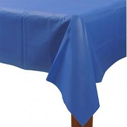 1 nappe plastique 137*274 bleu roi