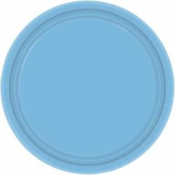 Assiettes carton 22,9 cm bleu ciel