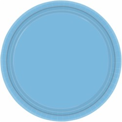 Assiettes carton 22,9 cm bleu ciel55015-108 AMSCAN BLEU CIEL