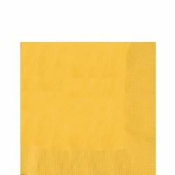 Serviettes jaune 33*33 3pli51220-09 AMSCAN JAUNE