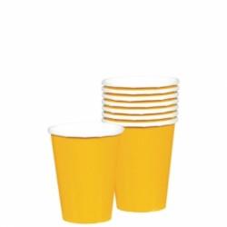 Gobelet jaune carton 266ml436801-09 AMSCAN JAUNE