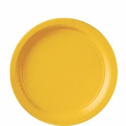 Assiettes petites carton 17,8 cm jaune
