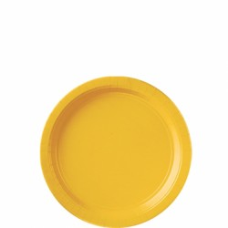 Assiettes carton 22,9 cm jaune