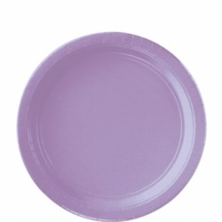 Assiettes carton 22,9 cm lilas AMSCAN LILAS