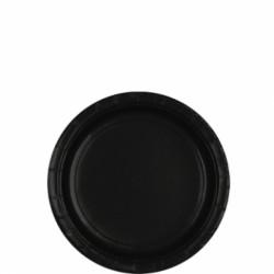 8 Assiettes petites carton 17,8 cm noir