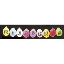 Ballons latex 25 cm avec une lettre alphabet imprimé