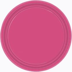 Assiettes carton 22,9 cm magenta55015-61\r\n\r\n AMSCAN MAGENTA FUSCHIA FRAMBOISE
