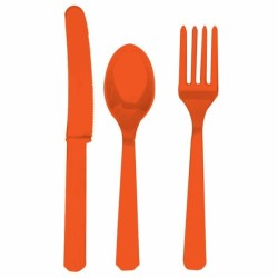 ASSORTIMENT COUVERTS ORANGE PLASTIQUE4546-05 Assortiments Couverts