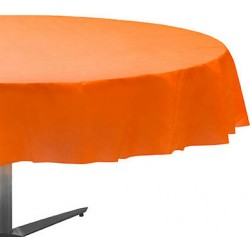 Nappe plastique ronde 213 cm orange