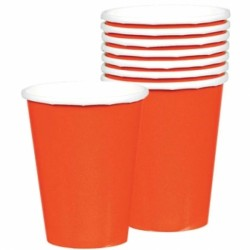 Gobelet orange carton 266ml58015-05 ORANGE
