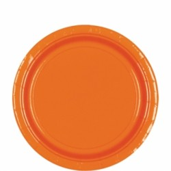 Assiettes carton 22,9 cm orange