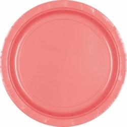 Assiettes carton 22,9 cm rose ROSE