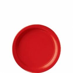 8 assiettes cocktail carton 17,8 cm rouge