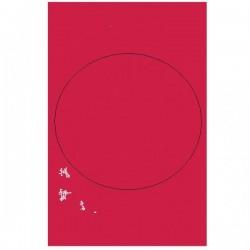 1 nappe plastique rouge 137*274 cm