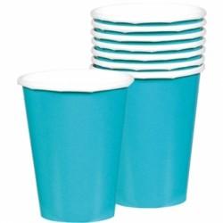 8 gobelets turquoise carton 266ml