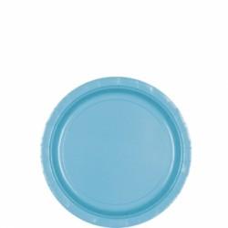 8 assiettes petites carton 17,8 cm turquoise