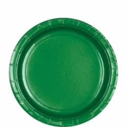 Assiettes petites carton 17,8 cm vert