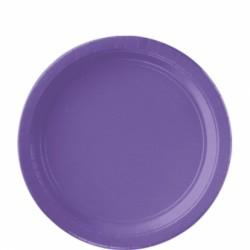 8 assiettes petites carton 17,8 cm violet
