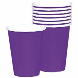 8 gobelets violet carton 266ml