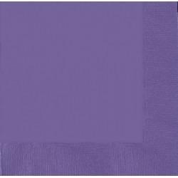 Serviettes violet 33*33 3pli