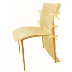 Housse de chaise ivoire AMSCAN IVOIRE