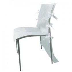 Housse de chaise blanche AMSCAN BLANC