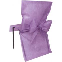 Housse de chaise lavande avec noeud