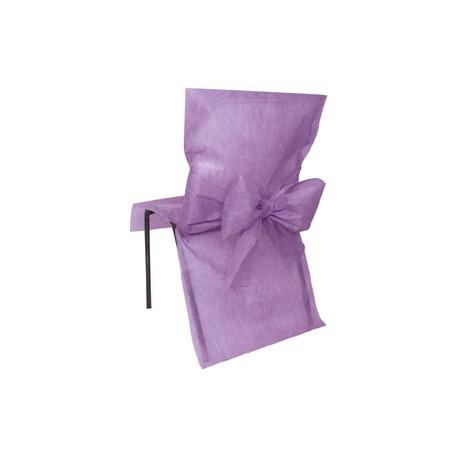 Housse de chaise lavande avec noeud AMSCAN LILAS