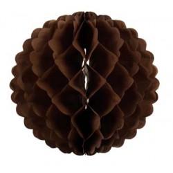 Boule papier alvéolé 32 cm chocolat