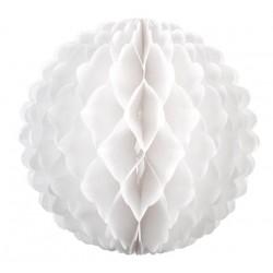 Boule papier alvéolé 32 cm BLANC BLANC ET IRISE