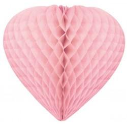 coeurs papier alvéolé 30 cm ROSE Coeurs Papier
