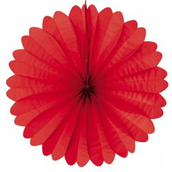 Eventail papier 50 cm rouge