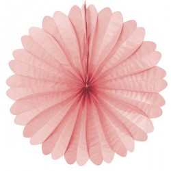 Eventail papier 50 cm rose
