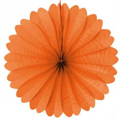 Eventail papier 50 cm orange