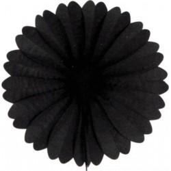 Eventail papier 50 cm noir
