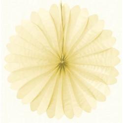 Eventail papier 50 cm ivoire