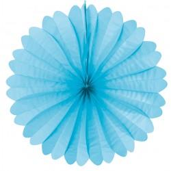 Eventail papier 50 cm turquoise bleu