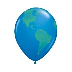 Ballon 28cm bleu mappemonde en poche de 2539846 globe Divers Themes Ballons Decoration Imprimes