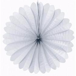 Eventail papier 50 cm blanc