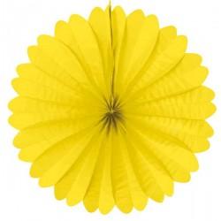 Eventail papier 50 cm jaune