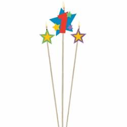 bougie 1 plus étoiles Bougies Pour Fetes Enfants