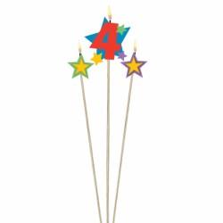 bougie 4 plus étoiles Bougies Pour Fetes Enfants