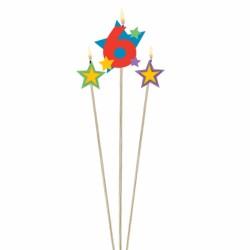 bougie 6 plus étoiles Bougies Pour Fetes Enfants