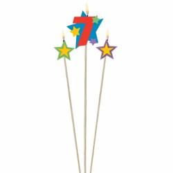 bougie 7 plus étoiles Bougies Pour Fetes Enfants