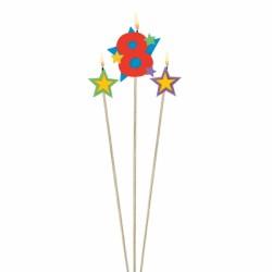 bougie 8 plus étoiles Bougies Pour Fetes Enfants