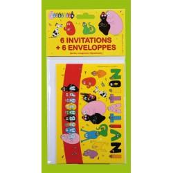 6 invitations Barbapapa